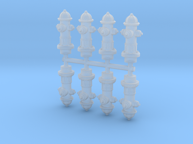 Hydrant 15mm Group in Smoothest Fine Detail Plastic