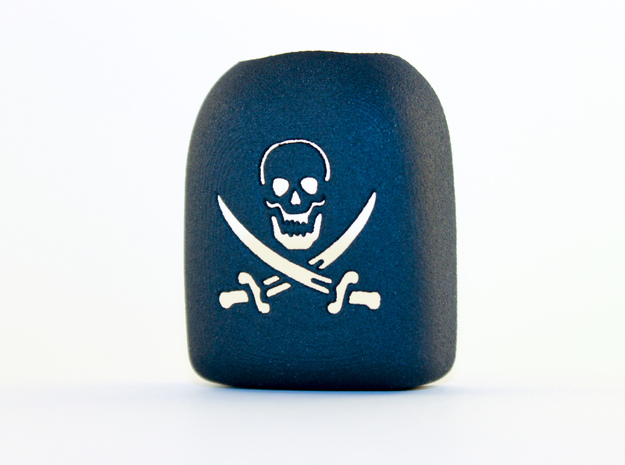 Omnipod Pod Cover - Pirate in Black Strong & Flexible
