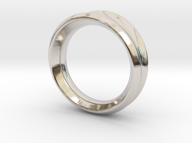 Modern+Taper in Rhodium Plated Brass: 6.5 / 52.75