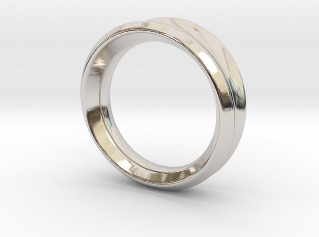 Modern+Taper in Rhodium Plated Brass: 6.5 / 52.75