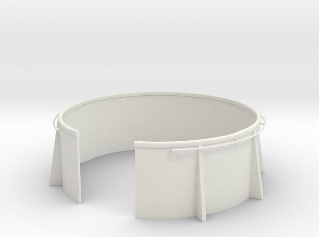 1/32 USN 20mm Gun Tub in White Natural Versatile Plastic