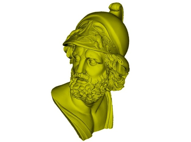 1/9 scale Menelaus king of Sparta bust