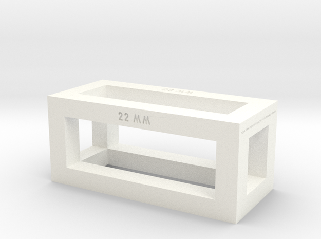 22mm 23mm Ride Height Gauge in White Processed Versatile Plastic