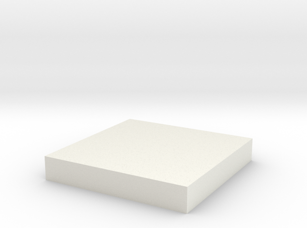 A Square Base in White Natural Versatile Plastic