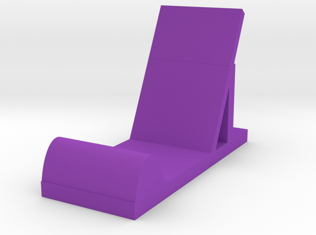 Phone Stand  in Purple Strong & Flexible Polished