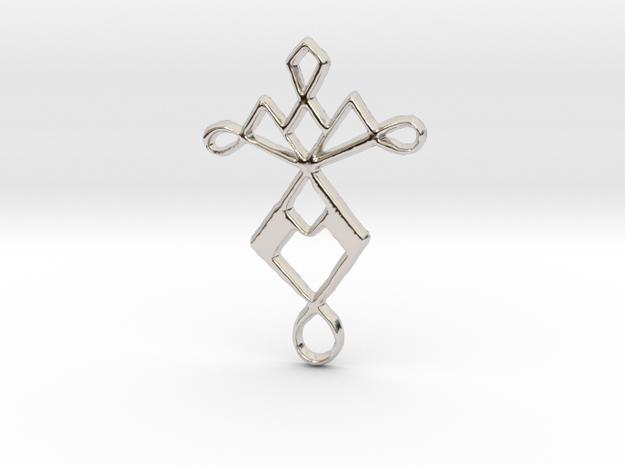 Eternal Dancer in Rhodium Plated Brass