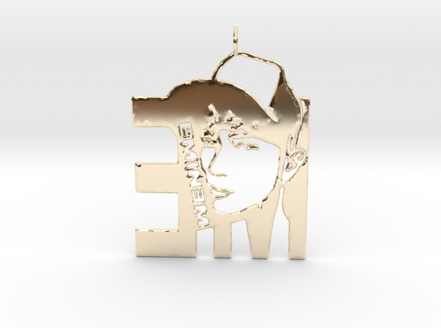 Eminem Pendant - 3D Jewelery - Eminem Fan Pendant in 14K Yellow Gold