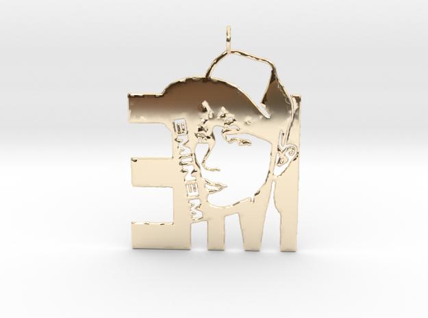 Eminem Pendant - 3D Jewelery - Eminem Fan Pendant in 14K Yellow Gold
