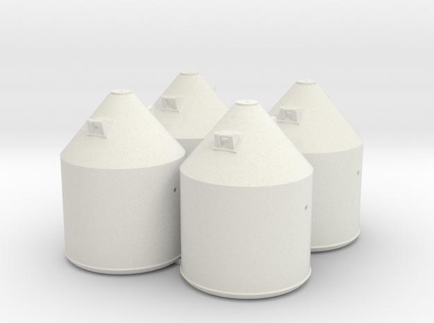 Set van 4 Soda containers in White Natural Versatile Plastic