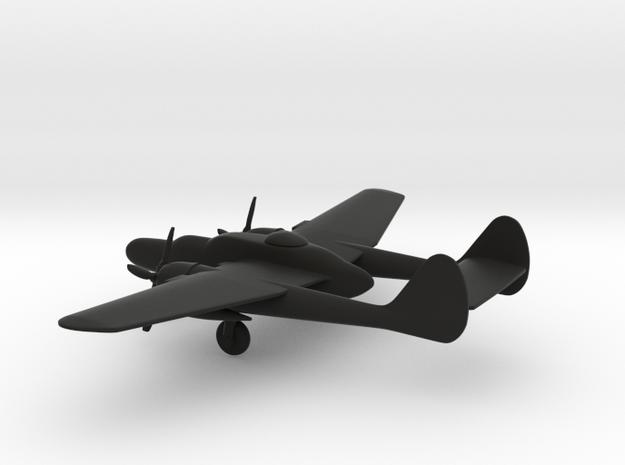 Northrop P-61 Black Widow in Black Natural Versatile Plastic: 1:200