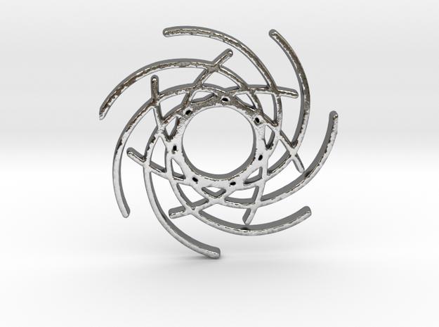 Seven Lines I - Gitinbel in Polished Silver