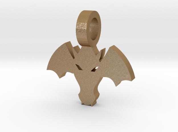 Dragon Pendant in Matte Gold Steel