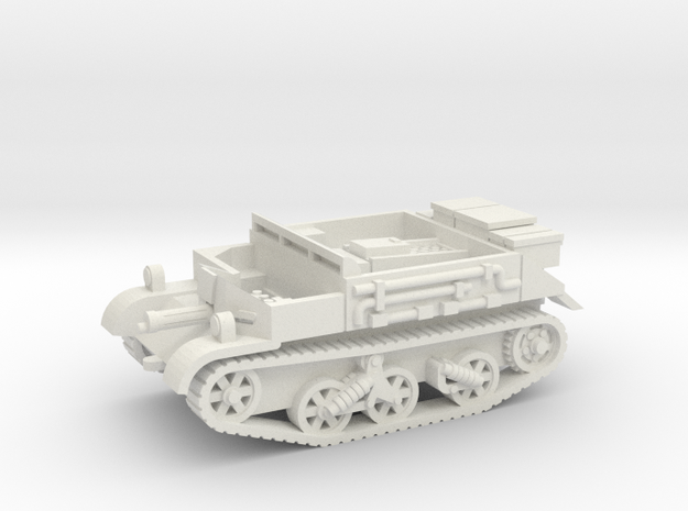 Universal Carrier vehicle (British) 1/100 in White Natural Versatile Plastic
