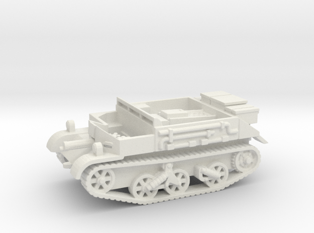 Universal Carrier vehicle (British) 1/87 in White Natural Versatile Plastic