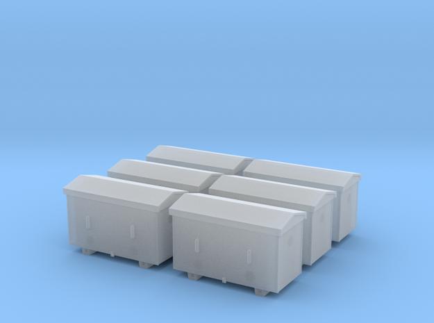TJ-H04651x6 - Caisses à piles acier galvanisé gran in Frosted Ultra Detail