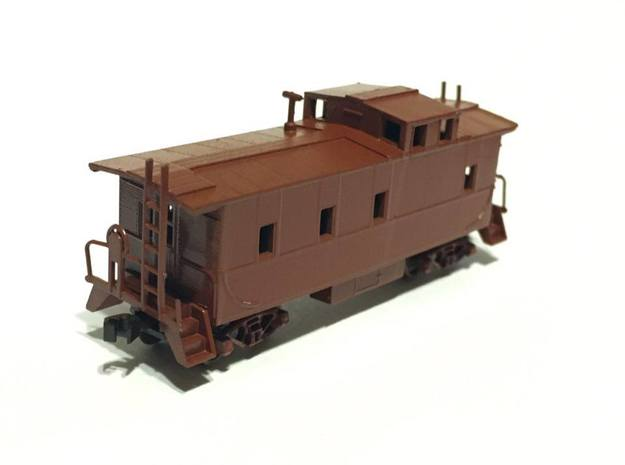 Southern Pacific C-40-3 Caboose as built N Scale in Black Hi-Def Acrylate
