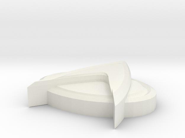 StarTrekTNGBadge in White Strong & Flexible
