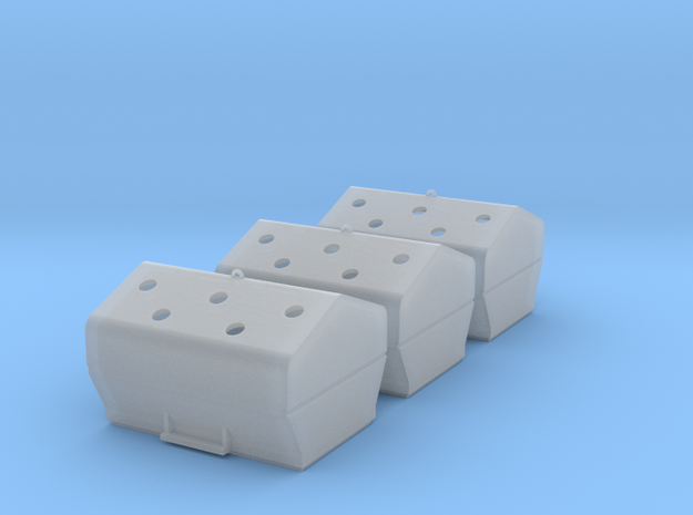 TJ-H01117x3 - Bennes à verre in Smooth Fine Detail Plastic