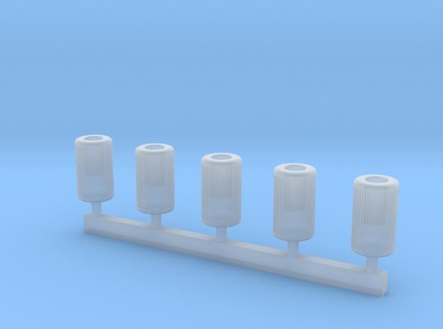 TJ-H01122 - poubelles urbaines rondes in Smooth Fine Detail Plastic