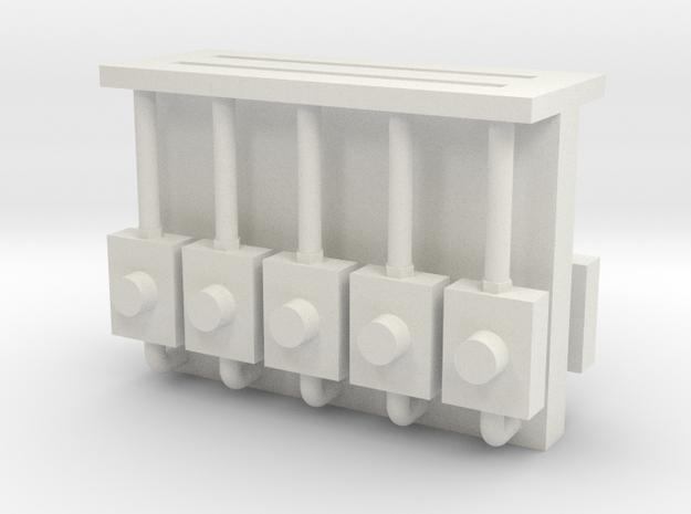 Meter Electric(10) - 35:1 Scale in White Natural Versatile Plastic