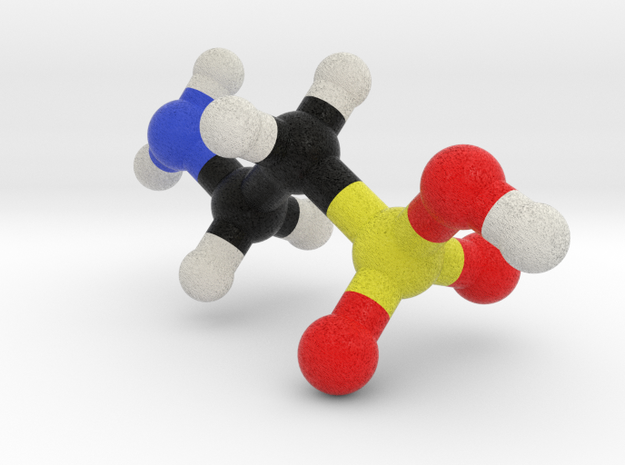 Taurine molecule model. 4 Sizes. in Full Color Sandstone: 1:10