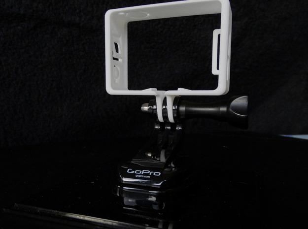 GoPro Hero 3 Frame Mount Strong Secure fit  Go Pro in White Strong & Flexible