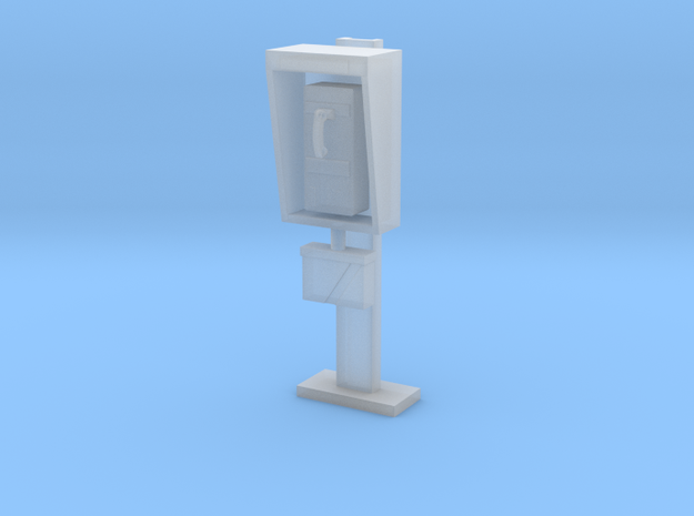 Phone Booth in 1:35 scale in Smooth Fine Detail Plastic