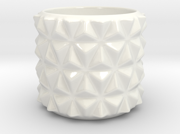 Cappuccino Cup in Gloss White Porcelain