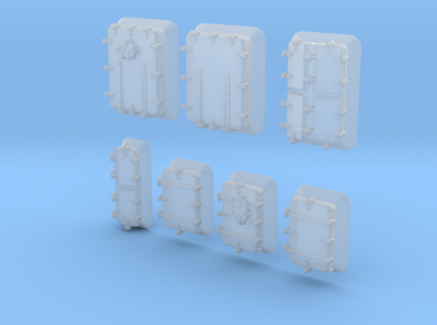 1/400 Royal Navy Assorted Hatches with Blast Plate in Smoothest Fine Detail Plastic