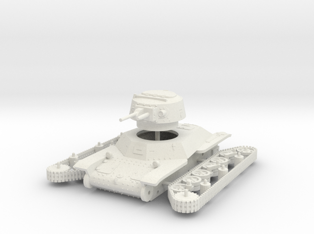 1/72 Type 2 Ke-To light tank in White Strong & Flexible