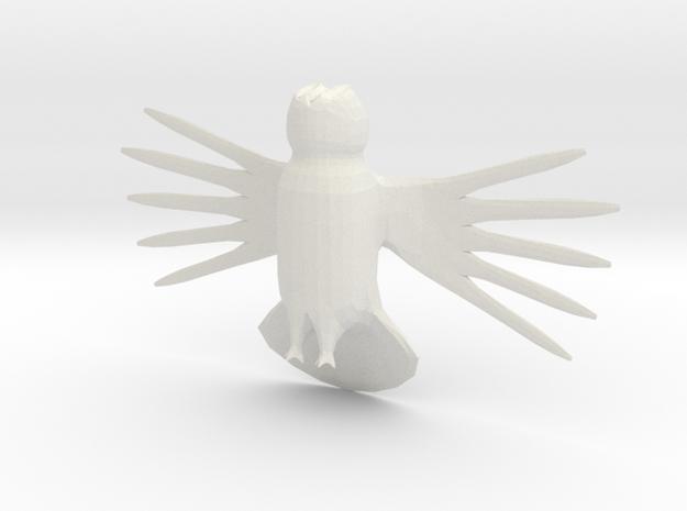 Great Grey Owl in White Natural Versatile Plastic: Medium