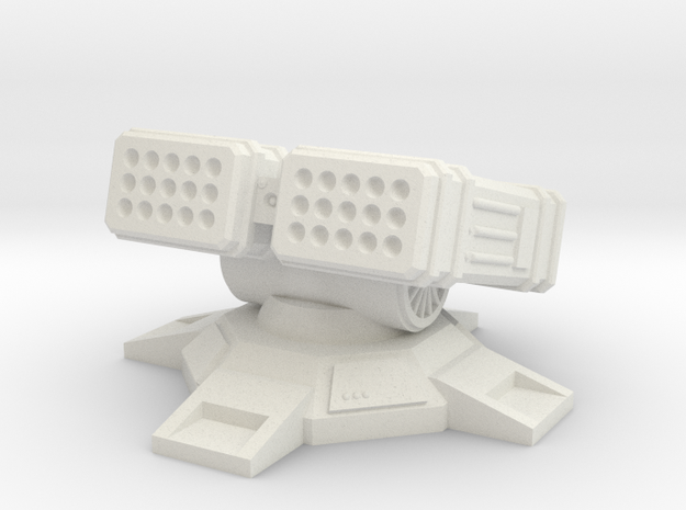 LRM Turret 6mm in White Natural Versatile Plastic