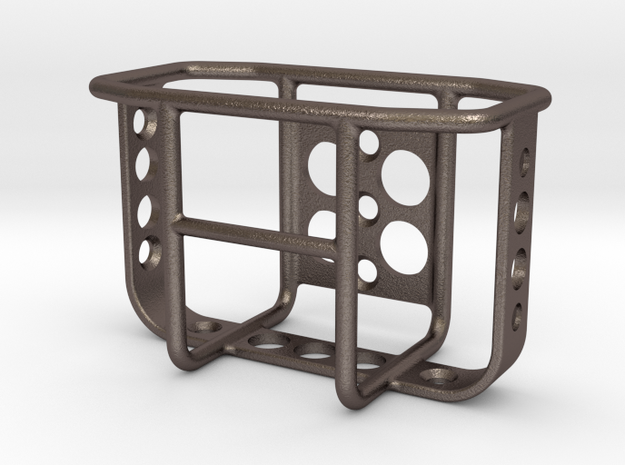 Crawler Scale Jerry Can Metal Rack in Polished Bronzed Silver Steel