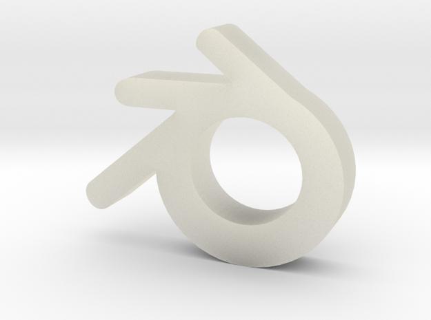 Blender logo in Transparent Acrylic
