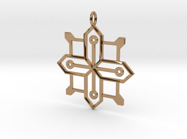 Carja Pendant in Polished Brass