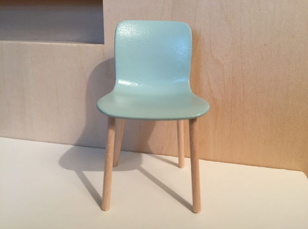 Chair no.6 - seat only in White Strong & Flexible Polished