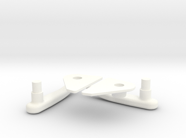 Lama Door Handles 1.4 in White Processed Versatile Plastic