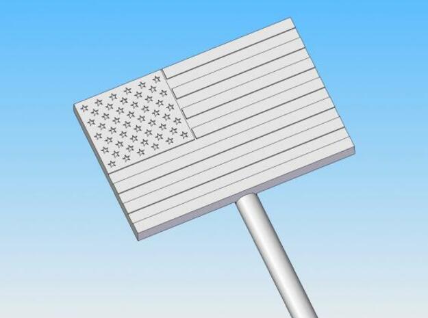U.S. Flag swizzle stick 3d printed Description