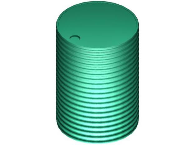 7mm  Scale 300 Gal Tank 3d printed 7mm Scale 300 Gallon Corrugated Iron Water Tank