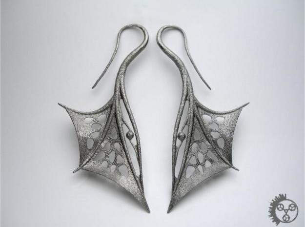 Wing Earrings 3d printed Wing Earrings - Pair
