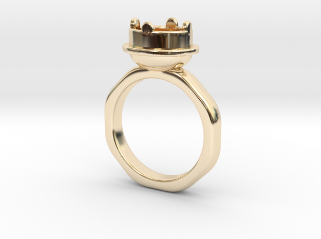 Ring Halkida in 14k Gold Plated Brass: 5.5 / 50.25