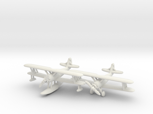 Naval Aircraft Factory N3N-3 1/285 Pair 6mm in White Natural Versatile Plastic