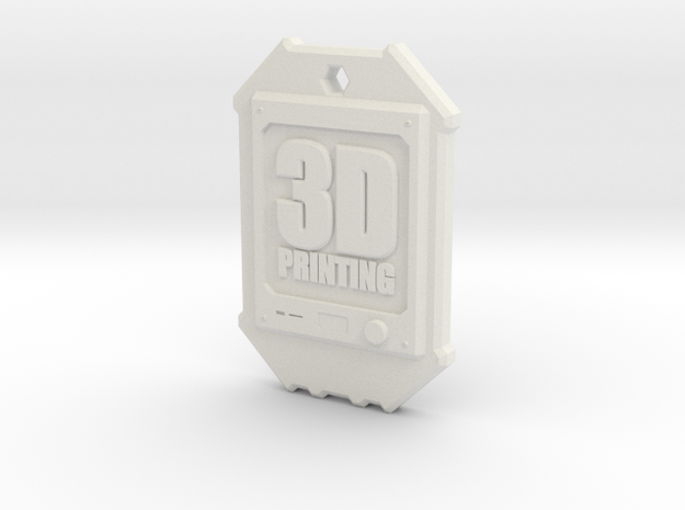 Dogtag 3D-Printing in White Strong & Flexible