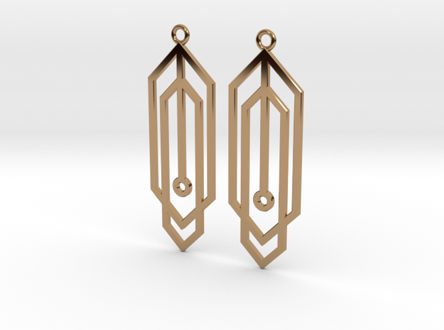 Carja Earrings in Polished Brass