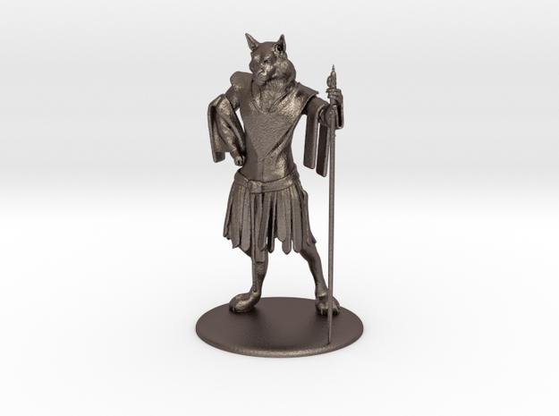 Aslan (Traveller race) Miniature in Polished Bronzed Silver Steel: 1:55