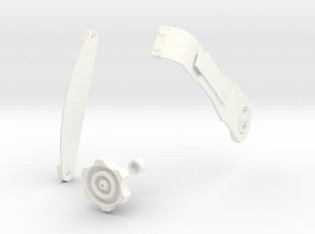 Apollo Lunar Module Translation Housing Parts in White Processed Versatile Plastic