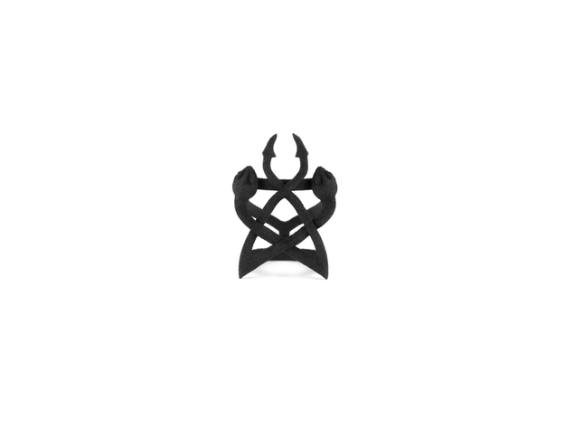 Serpent Synergy Ring in Black Natural Versatile Plastic: 6 / 51.5