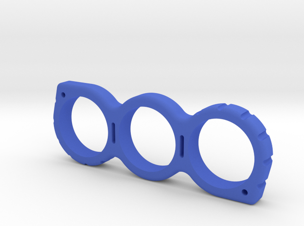 Shaped Fidget Spinner in Blue Processed Versatile Plastic