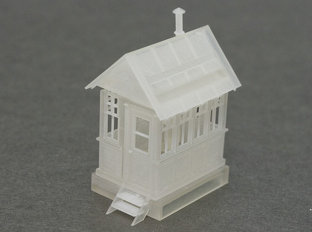 CPR John Street Gatehouse - HO Scale (1/87) 3d printed FUD print assembled.