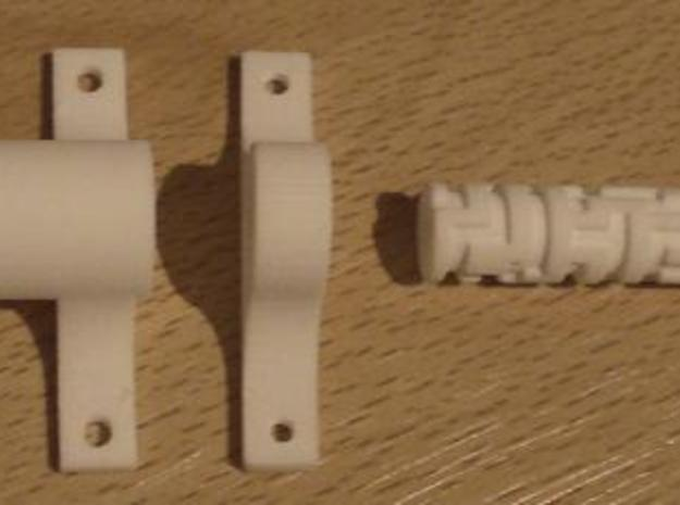 Maze lock, 1.5 cm cylinder, with fasteners 3d printed Description
